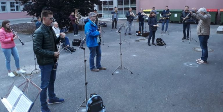 Stadtmusik Hollabrunn - Probe im Freien